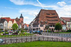 Wissembourg town center near Maison du Sel Royalty Free Stock Photography