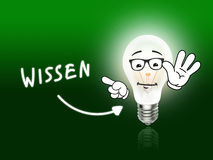 Wissen Bulb Lamp Energy Light green. Idea Background Stock Photo