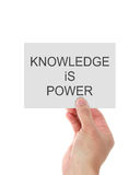 Wissen ist Energiekonzept Lizenzfreie Stockfotos