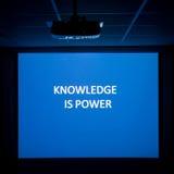 Wissen ist Leistung Stockfotografie