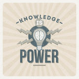Wissen ist Leistung Stockfoto