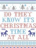 Wissen sie sind Weihnachtszeit an allem skandinavischen Artmuster, das bis zum festlichem Winter der nordischen Kultur im Kreuzst lizenzfreie stockbilder