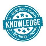 Wissens-Runden-Stempel Ausweis des Vektors Eps10 stock abbildung