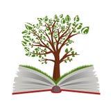 Wissensbaum vom offenen Buch lizenzfreie abbildung