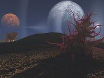 Wissenschaft-Erfindung Landschaft stock abbildung