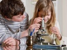 Wissenschaft für Kinder Stockbilder