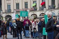 Wissenschaft März München Deutschland am 22. April 2017 Lizenzfreie Stockfotografie