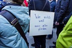 Wissenschaft März München Deutschland am 22. April 2017 Lizenzfreies Stockbild