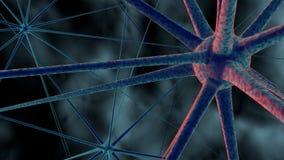 Wissenschaft oder medizinischer Hintergrund mit Molekülen, Virus der Wiedergabe 3d, Bakterien, Zelle System von Neuronen Genetisc stock abbildung