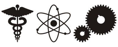 Wissenschaft u. Technologie-Ikone Stockbild