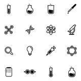 Wissenschaft und Laborikone Lizenzfreies Stockbild