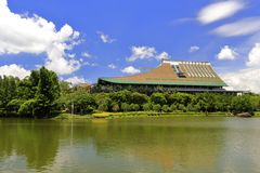 Wissenschaft und Technik-Mitte von Xiamen-Universität, luftgetrockneter Ziegelstein rgb Lizenzfreie Stockbilder