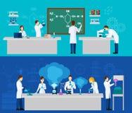 Wissenschaftler Banner Set Lizenzfreies Stockbild