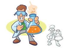 Wissenschaftler Cartoon Lizenzfreies Stockfoto