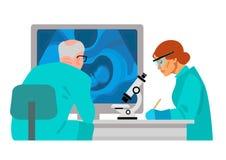 Wissenschaftler im medizinischen Labor stock abbildung
