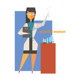 Wissenschaftler Woman Abstract Figure Lizenzfreies Stockfoto