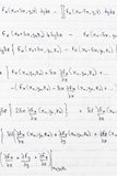 Wissenschaftliche Formeln Stockfotos