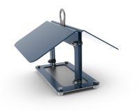 wissenschaftlicher Birdhouse des Metall 3D Lizenzfreie Stockfotos