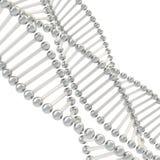 Wissenschaftlicher Hintergrund gemacht von Chrom DNA-Ketten lizenzfreie abbildung