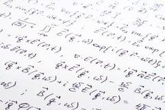 Wissenschaftlicher Schreibensabschluß oben Lizenzfreie Stockbilder