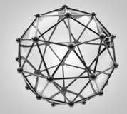 Wissenschaftliches Baumuster 3D des Moleküls, ein Atom Lizenzfreie Stockfotos