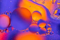 Wissenschaftliches Bild der Zellmembran Makro oben von flüssigen Substanzen Abstraktes Molekülatom sctructure Hintergrund, Bad, b stockfoto
