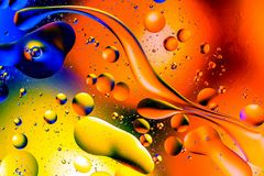 Wissenschaftliches Bild der Zellmembran Makro oben von fl?ssigen Substanzen Abstraktes Molek?latom sctructure Hintergrund, Bad, b lizenzfreie stockfotos