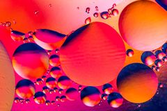 Wissenschaftliches Bild der Zellmembran Makro oben von fl?ssigen Substanzen Abstraktes Molek?latom sctructure Hintergrund, Bad, b stockfotografie