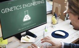Wissenschaftliches Biochemie-Genetik-Technik-Konzept lizenzfreies stockbild