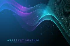Wissenschaftliches Vektorillustrations-Gentechnik und Genmanipulationskonzept DNA-Helix, DNA-Strang, Molekül oder vektor abbildung