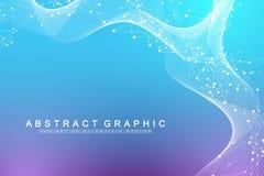 Wissenschaftliches Vektorillustrations-Gentechnik und Genmanipulationskonzept DNA-Helix, DNA-Strang, Molekül oder lizenzfreie abbildung