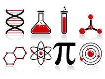 Wissenschafts-Ikonen Lizenzfreie Stockbilder