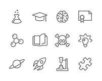 Wissenschafts-Ikonen Lizenzfreie Stockfotografie