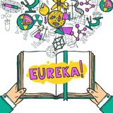 Wissenschafts-Skizzen-Illustration Stockbilder