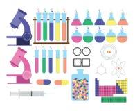 Wissenschafts-themenorientierte Gegenstände Stockbild