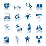 Wissenschafts- u. Technologieikonenset Stockfoto