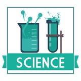 Wissenschafts- und Chemiedesign Stockbilder