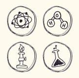 Wissenschafts- und Chemiedesign Stockbild