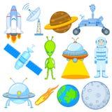 Wissenschafts- und Raumikone Stockfotos
