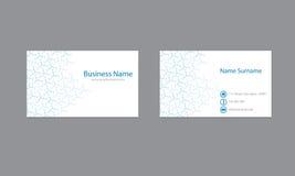 Wissenschafts-Visitenkarte-Design-Vektor-Schablone Lizenzfreie Stockbilder