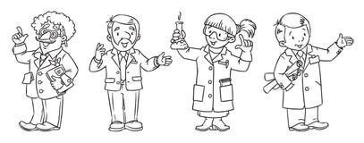 Wissenschaftsberuf-Malbuchsatz Lizenzfreies Stockfoto