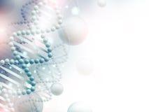 Wissenschaftshintergrund mit DNA Stockfoto