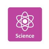 Wissenschaftsikone für Netz und Mobile Lizenzfreie Stockbilder