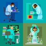 WissenschaftsKonzept- des Entwurfessatz stock abbildung