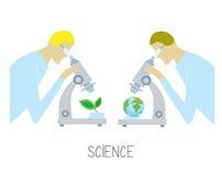 Wissenschaftskonzept mit Forscher stock abbildung