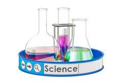 Wissenschaftskonzept, Wiedergabe 3D Lizenzfreies Stockfoto