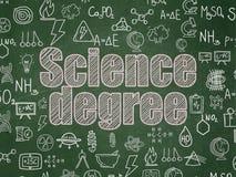Wissenschaftskonzept: Wissenschaftlicher Abschluss auf Schulbehördehintergrund Stockfoto