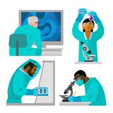 Wissenschaftskonzeptsatz lizenzfreie abbildung