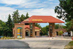 Wissol petrol station. Sighnaghi city. Georgia Royalty Free Stock Photography