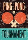 Śwista Pong rocznika grunge stylu typographical plakat retro ilustracyjny wektora Fotografia Stock